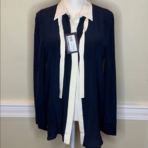NWT Prada blue label blouse
